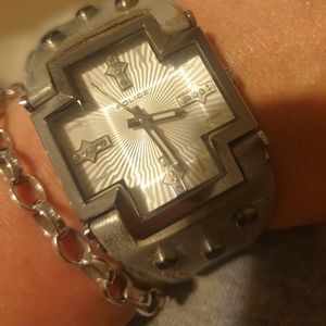 Police PL-11598MS-04 Glory-X Cross Crystal Dial Le